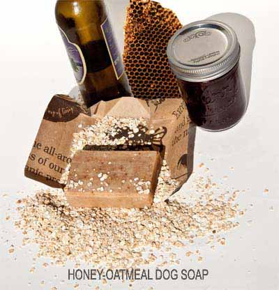 Honey-oatmeal dog soap for dogs with dry, irritated or sensitive skins