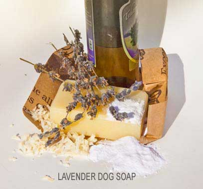 Lavender Dog Soap ingredients of Dee Stuff, Shasta Lake (near Redding) CA